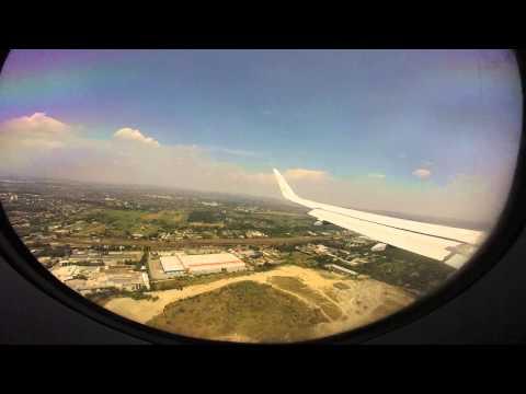 landing in budapest ferenc liszt international  airport (flight lh 1341)