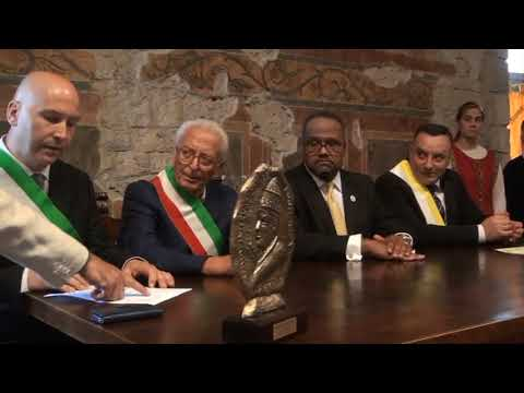 Consegna del Premio Bonifacio VIII al Senatore Anthony Carter
