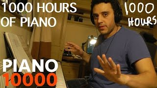 1000 one thousand hours of piano