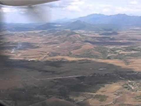 Coming to land in Phonsavan Xieng Khouang Laos 2011