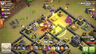 ClashofClans: High Level Gameplay -TH9 HGHB TH9 GOHO and Max TH11 Gameplay