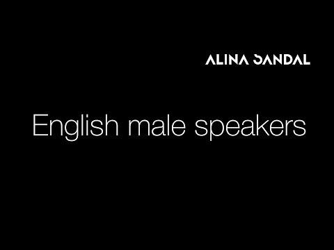 English male speakers   Мужские  дикторы на английском языке