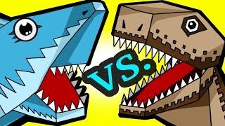 MINECRAFT SHARK VS. DINO!