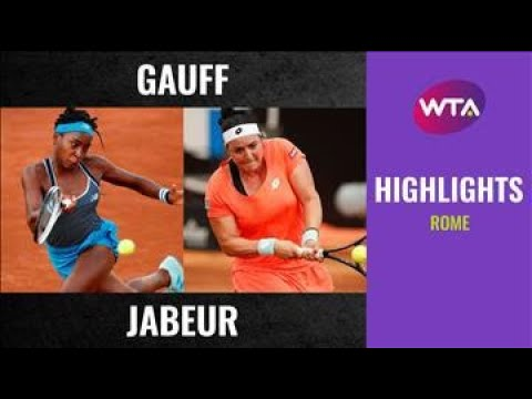 Coco Gauff vs. Ons Jabeur | 2020 Rome First Round | WTA Highlights