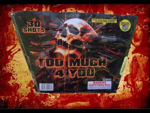 TOO MUCH FOR YOU - 500G CAKE - WORLD CLASS FIREWORKS