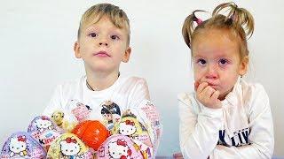 Міньйони Гидке я 3 Хелло Кітті Кіндер сюрприз іграшки для дітей відео розпакування