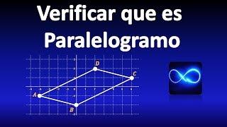 14. Demostrar que es paralelogramo, usando fórmula de distancia (con Gráfica)