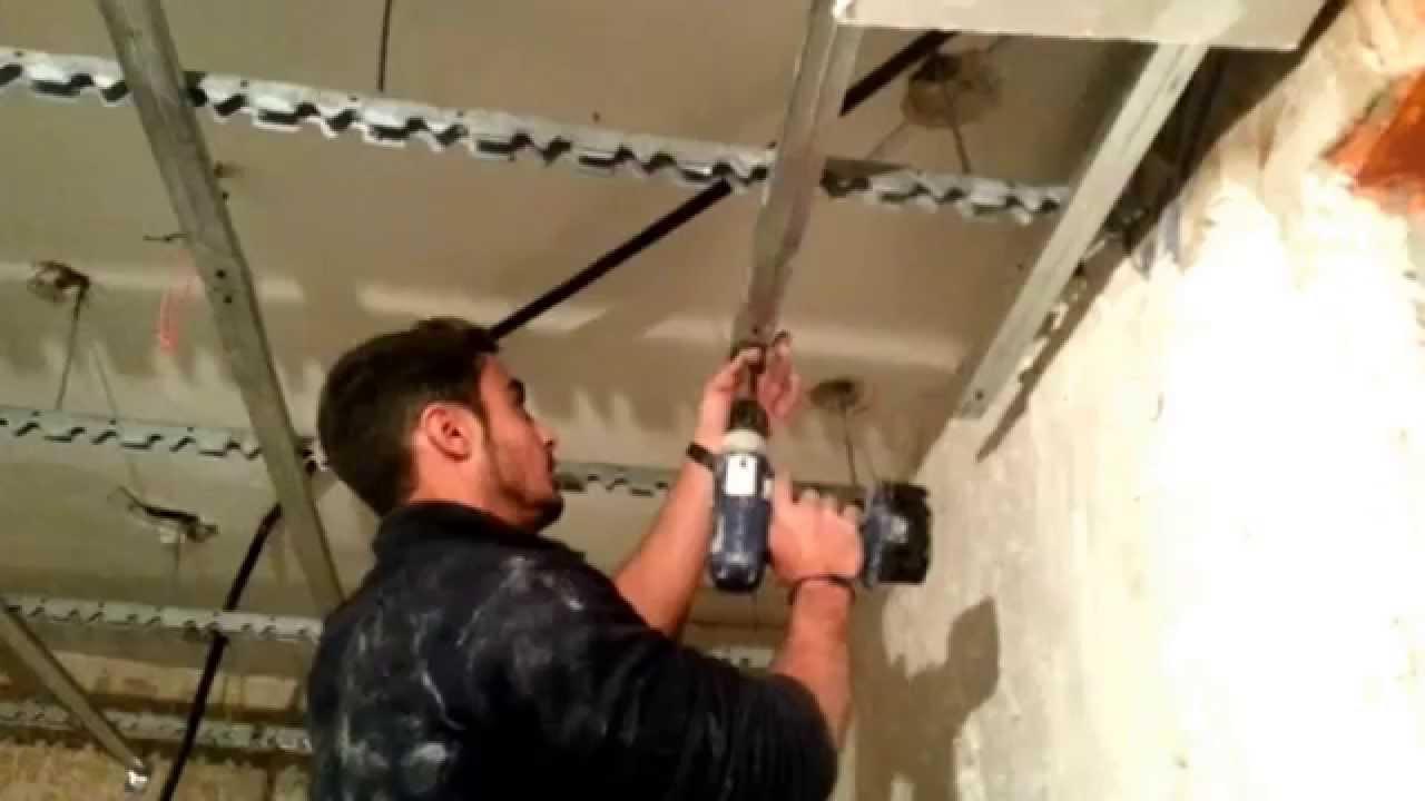 Videotutorial c mo colocar los perfiles y ristreles para for Como poner chirok en el techo