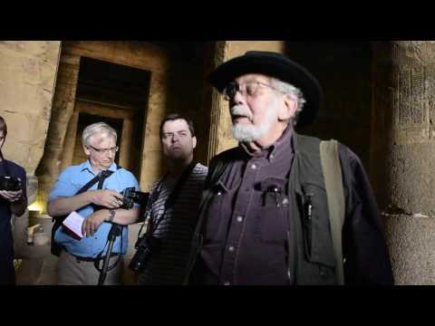 John Anthony West in the Temple of Hathor - 2015