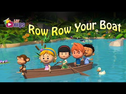 Row Row Row Your Boat with Lyrics | LIV Kids Nursery Rhymes and Songs | HD