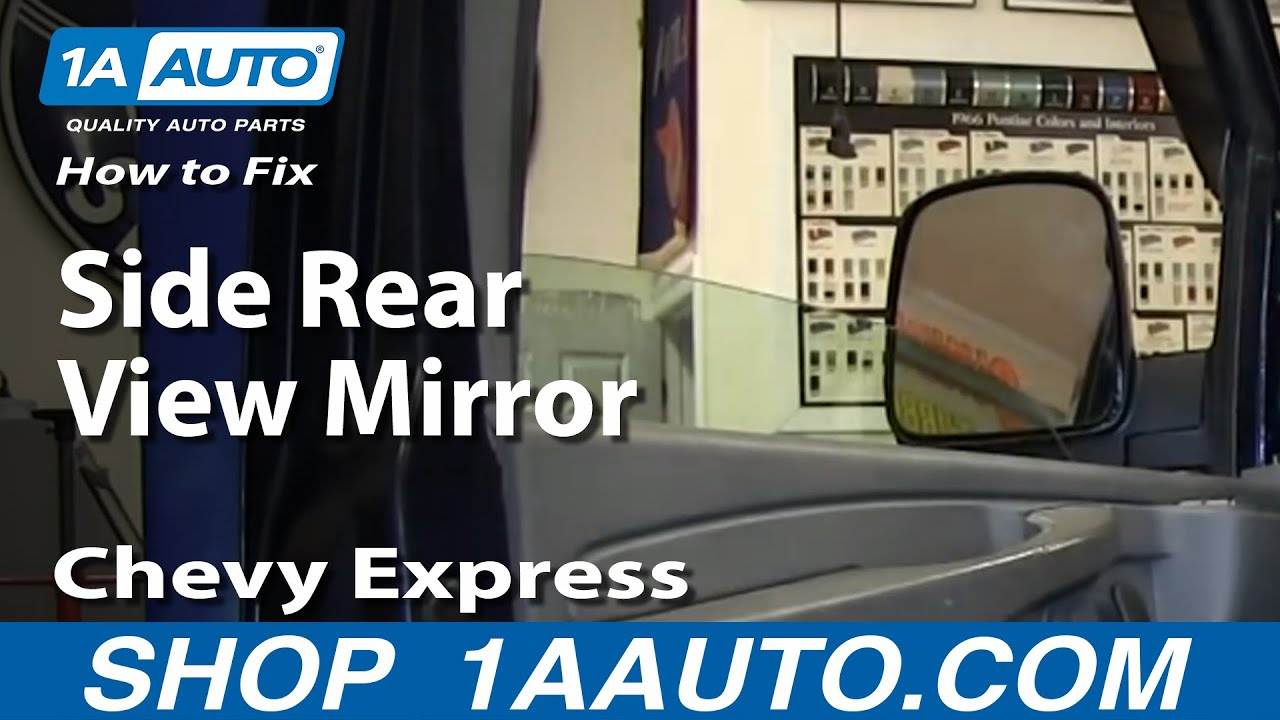 maxresdefault how to install fix broken side rear view mirror chevy express gmc 2014 GMC Savana Conversion Van at gsmportal.co