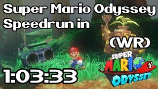 Super Mario Odyssey Any% Speedrun in 1:03:33 (World Record - March 6th / 2018)
