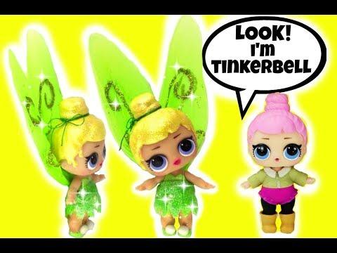 . LOL Surprise TINKERBELL CUSTOM Doll ~ L.O.L. Lil Sisters & Girly Girlz Doll Story Video