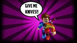 BEGGING FOR KNIVES ON MY BIRTHDAY!! [SOCIAL EXPERIMENT] (ROBLOX ASSASSIN)