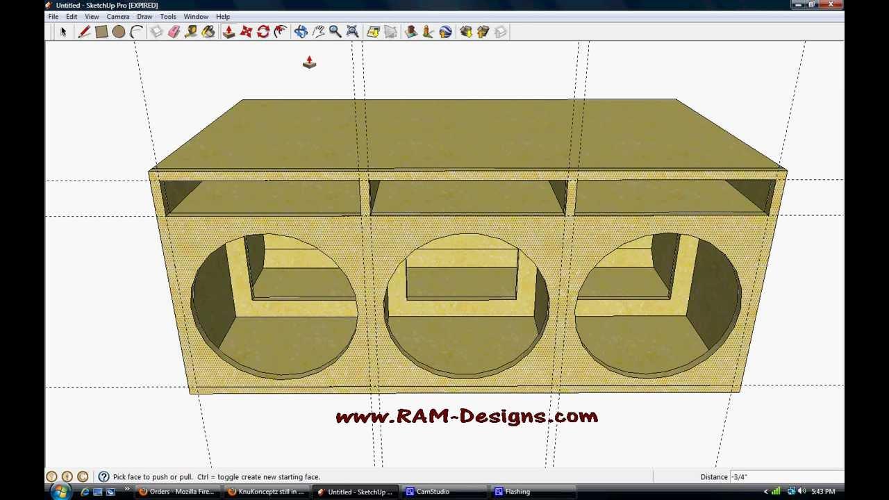 Ram Designs Sundown Audio Sa 15 Ported Box Design Youtube