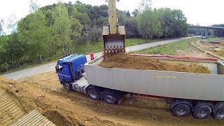 Download Volvo EC300D Loading Volvo Truck: Boom Cam GoPro Hero3 Black Edition Mp3 and Videos