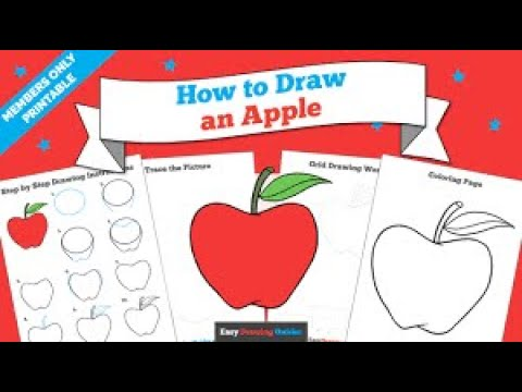 1st day drawing.... how to draw apple.. easy method..