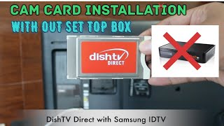 CAM CARD WITH SAMSUNG ID TV  INSTALLATION