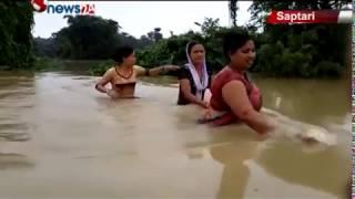 सप्तरीका अधिकांश गाउँका वासिन्दाहरु गाउँघरमा नै थुनिएर बस्न बाध्य - NEWS24 TV