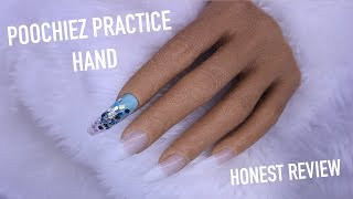 REALISTIC PRACTICE HAND FROM POOCHIEZ NAILS   NAIL TRAINER REVIEW AND DEMO