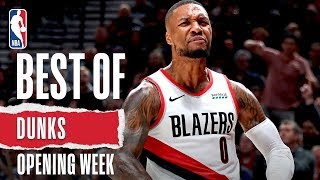 NBA's Best Dunks from Opening Week | 2019-20 NBA Season