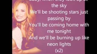 Repeat youtube video Demi Lovato - Neon Lights ( Official Lyric Video)