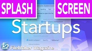 FileMaker Tutorial - Adding a startup splash screen