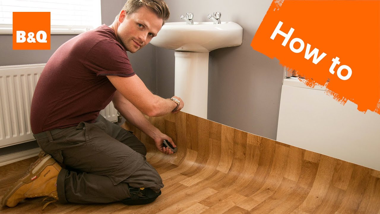 B&q Kitchen Design Jobs How To Lay Sheet Vinyl Flooring Youtube