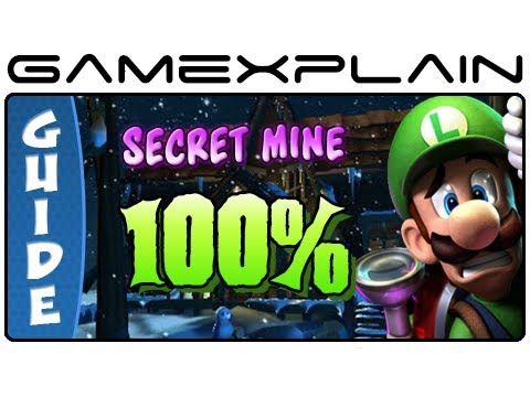 Luigi's Mansion 2: Dark Moon: 100% Secret Mine Guide & Walkthrough (Gem, Boos & Puzzles!)