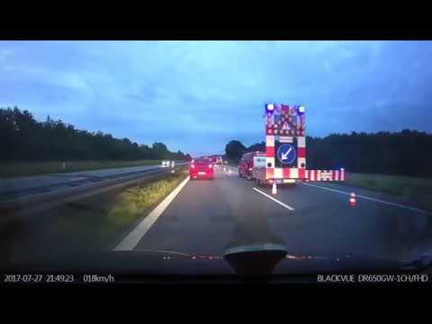 Bilbrand på E20 Fynske motorvej ved Nyborg - 270717