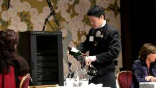 1st Contest of the Best Sommelier of Asia-Oceania practical tests