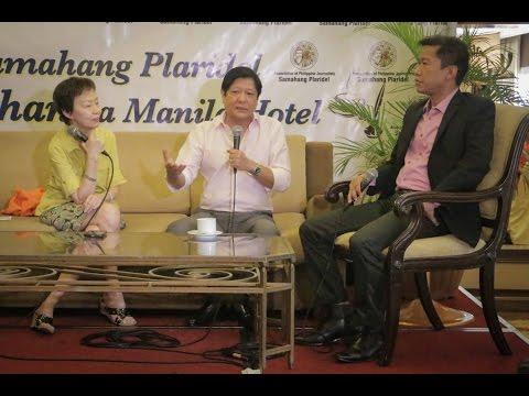 Sen. Bongbong Marcos - Kapihan sa Manila Hotel