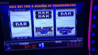 $27 Black Diamond - Double The Money - Wild Bonus Multipliers Everi Slot Choctaw Casino Durant, OK.