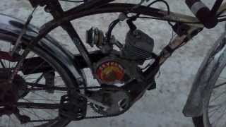 Grubee skyhawk 49/50cc bicycle engine on Beach Cruiser frame (in winter)