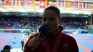 Dorota Balciarová EKF junior cadet championchips - silver medal