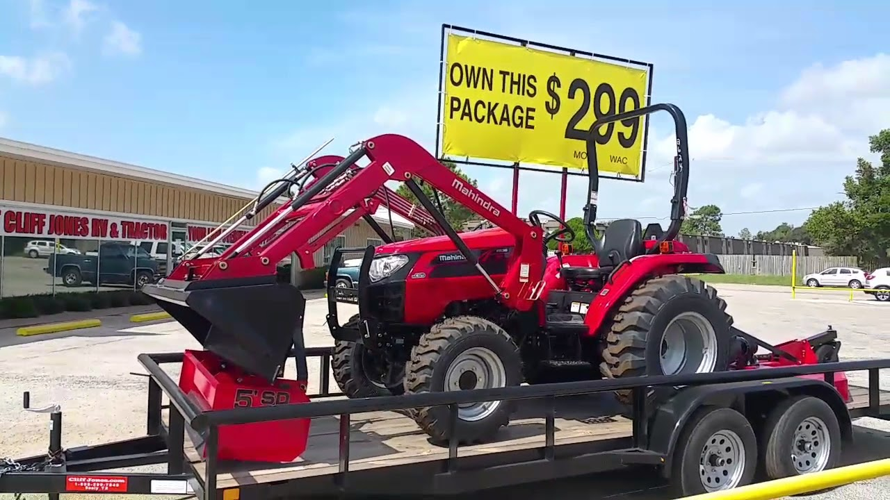 Mahindra 2538 Tractor Package Youtube