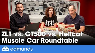 Muscle Car Debrief: Ford Mustang Shelby GT500 vs Dodge Challenger Hellcat Redeye vs Chevy Camaro ZL1