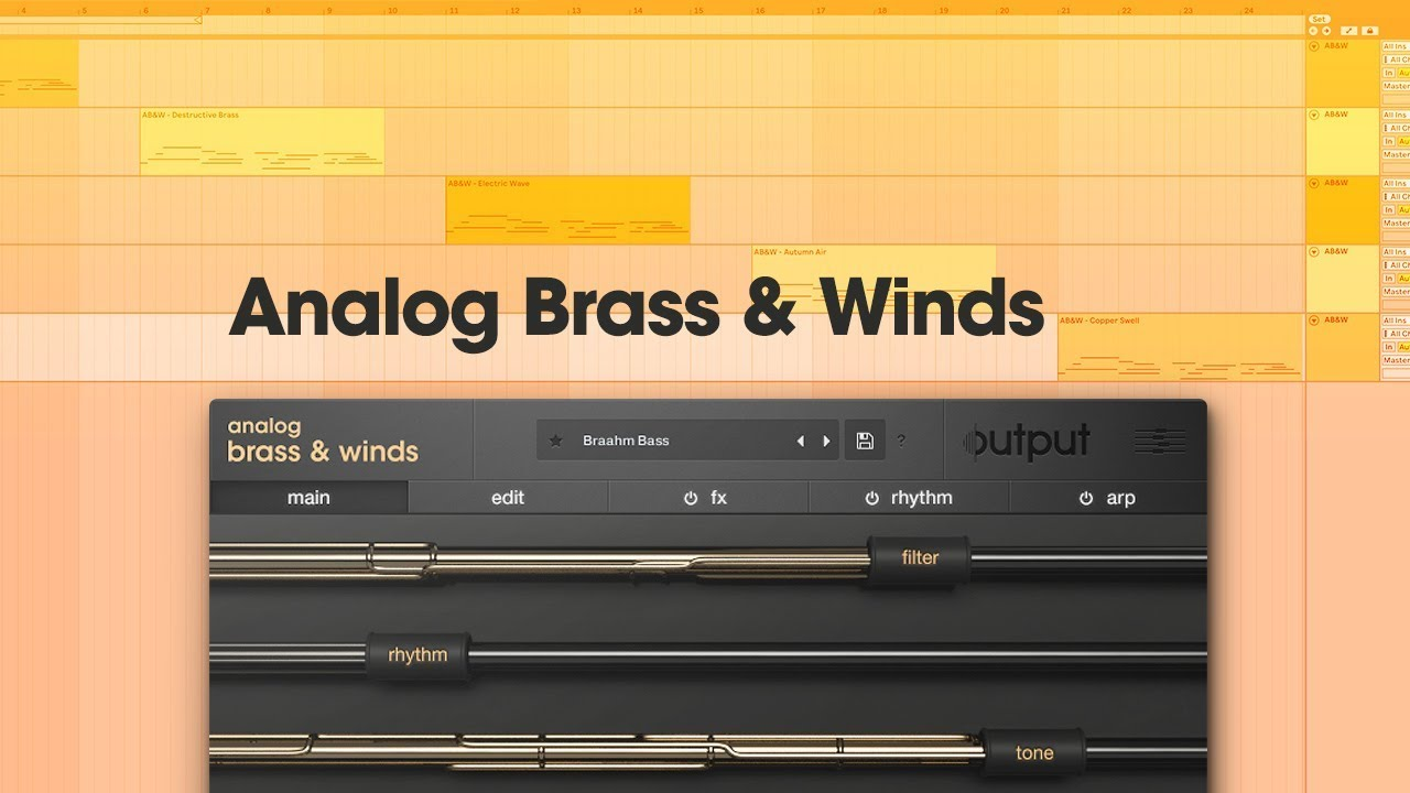 Output Analog Brass and Winds Virtual Instrument | Sweetwater