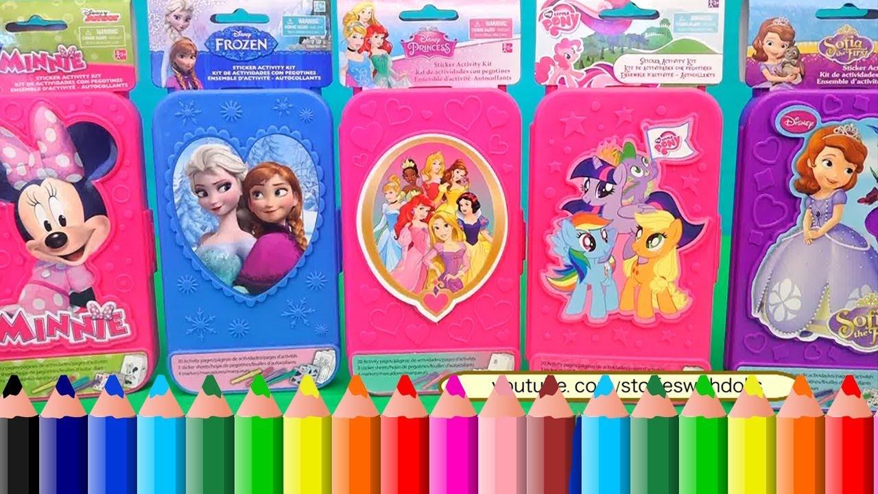 Colorindo Minnie Mouse Mlp Anna E Elsa Do Frozen E Princesas