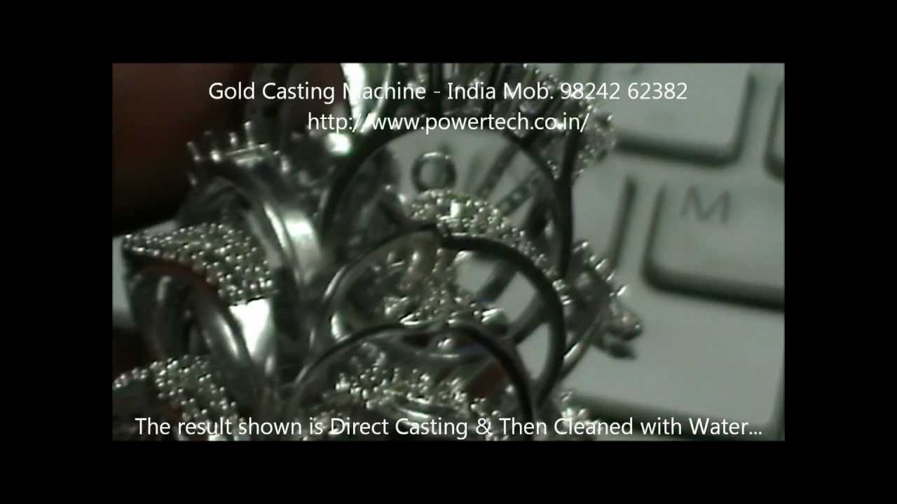 How to Melt gold Cast Gold Jewelry filigree Ornaments by vacuum