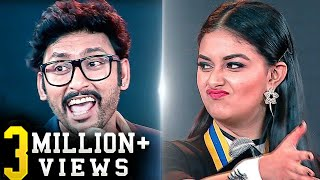 Vera level! keerthy suresh & rj balaji mimic facebook emoticons!