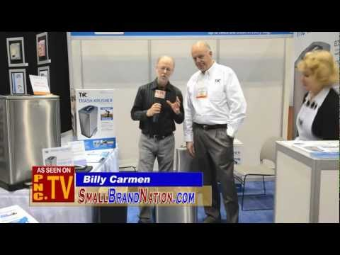 Trash Krusher Trash Compactor Garbage Can Gadget Product News with Billy Carmen
