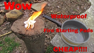 DIY Fire Starting Pads