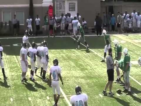 Prep FB Scrimmage2013: Thomas Jefferson vs. Isidore Newman PART I