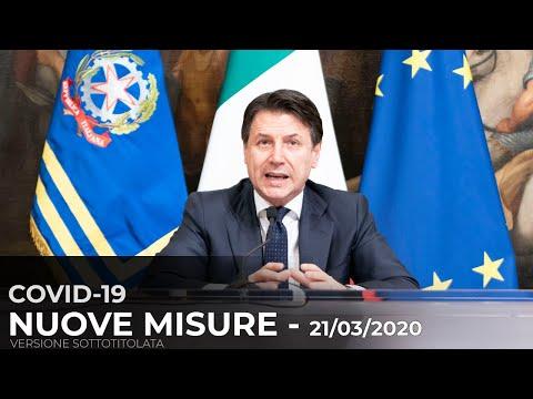 Dichiarazioni del Presidente Conte - 21/03/2020 | versione con sottotitoli |