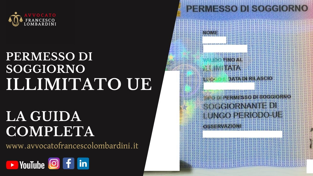 Permesso Di Soggiorno Illimitato Ue Avv Francesco Lombardini