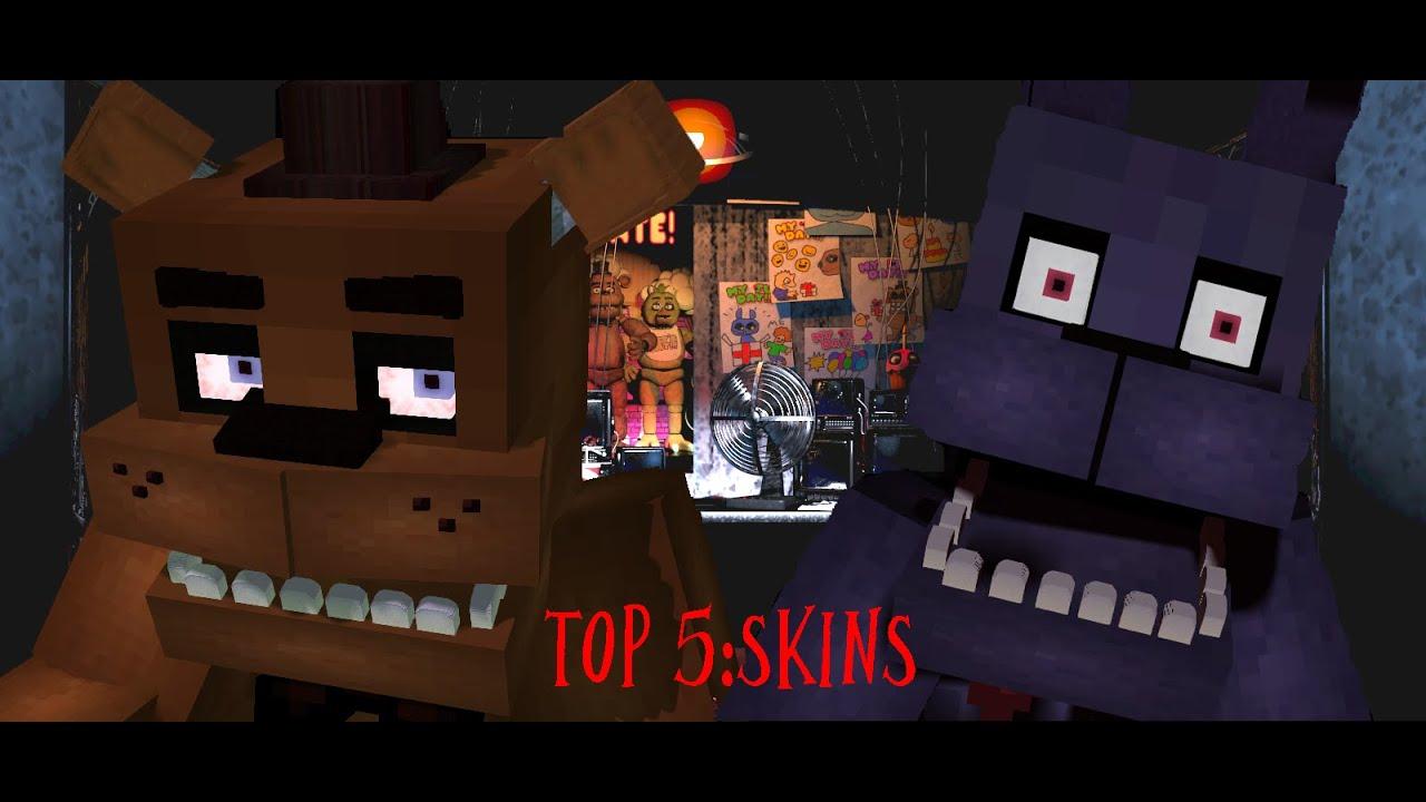 Top Minecraft Skins FNAF Con Nombres YouTube - Nombres de skins para minecraft 1 8 premium