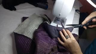 Продолжаем шить пальто. Часть 3 СОЕДИНЯЕМ ПОДКЛАДКУ С УТЕПЛИТЕЛЕМ