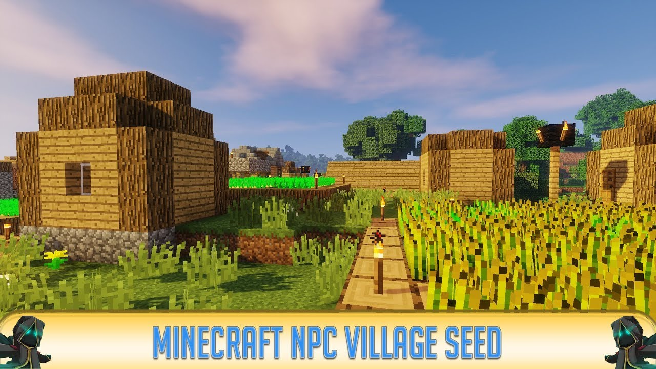 ✔ Minecraft 11.111.11: Epic NPC Village at Spawn Seed (111)