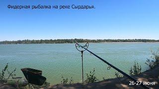 Фидерная рыбалка на реке Сырдарья 26 27 июня